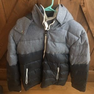GUESS black and grey puffer jacket
